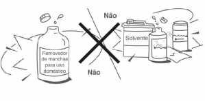 não use produtos quimicos no ar